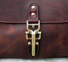 "Soho 16"" Mail Bag, Cognac Horween Dublin Leather Messenger Bag with Quik Latch, Shoulder Bag, Vintage Mailbag - Special Limited Edition $999.00"