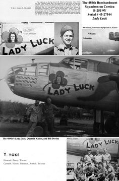 "489th BS B25-J 43-27544 ""Lady Luck"""