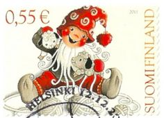 Finland - Stamp 2011, Christmas doll with toy sheep