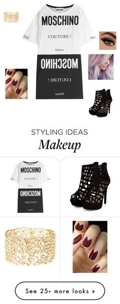 """""""Untitled #1326"""" by fangirl23 on Polyvore featuring Moschino and Charlotte Russe"""