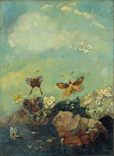 Butterflies. Odilon Redon. 1910    In Mexico, the Nahauatl people believe that Monarch butterflies are the souls of dead children returning to their ancestral home.