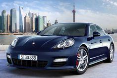 Porsche Panamera, totally wanting, matte dark blue/black, awesome..