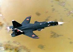 El Su-47 Berkut es una caza experimental construida por la empresa rusa Sukhoi en 1997, esto destaca un par de alas fijas aquel barrido forwar