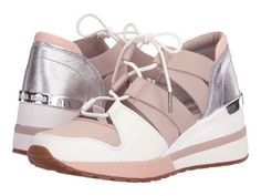MICHAEL Michael Kors - Beckett Trainer (Cement/Soft Pink Vachetta/Metallic Nappa/Suprema Nappa Sport) Women's Shoes