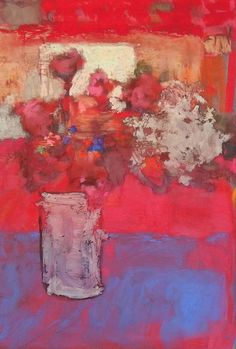 'The Red Studio' by Casey Klahn Art Floral, Abstract Flowers, Watercolor Flowers, Art Aquarelle, Still Life Flowers, Paintings I Love, Pastel Art, Lovers Art, Painting Inspiration