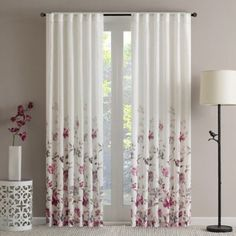 product image for Regency Heights Isla Floral Sheer Rod Pocket Window Curtain Panel