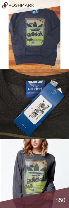Adidas camo sweatshirt NWT gray Adidas crewneck sweatshirt. *Price is firm.* Adidas Sweaters