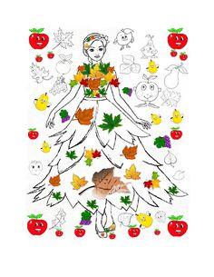 ZANA TOAMNA imagini de colorat / fise de colorat cu Zana TOAMNA - Universul piticilor Autumn Leaves Craft, Easy Fall Crafts, Cute Hedgehog, Leaf Crafts, Crafty Kids, Learn To Draw, Different Shapes, Preschool Crafts, Classroom Decor