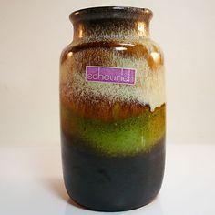 West German Pottery Vase • Scheurich • 231/15 • original label