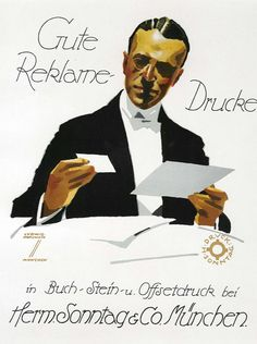 Gute Reklame-Drucke (bookplate) by Hohlwein, Ludwig | Shop original vintage Plakatstil #posters online: www.internationalposter.com