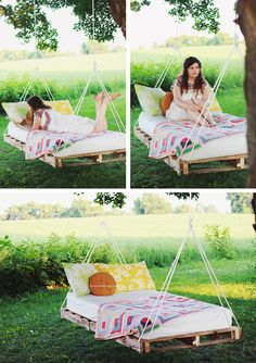 DIY Pallet Swing Beds Bring Relaxation to Your Home