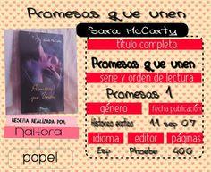 Locas del romance: PROMESAS QUE UNEN (SERIE PROMESAS 1/5 SARA McCarty...
