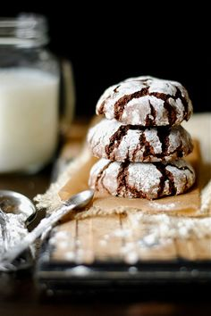 Chocolate Crinkle Cookies- family favorite (I've made these since I was old enough to bake)