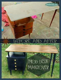 mid century mod desk makeover It #hometalktuesday Come and see the latest furniture makeover on the blog. A Roadside Rescued Mod Desk Makeover. http://arttisbeauty.blogspot.com/2014/10/roadside-rescue-mod-desk-makeover.html  #mod #Roadsiderescue #paintedfurniture #midcenturymodern #furnituremakeover