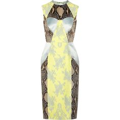 Erdem Brynn python-print satin and lace dress ($4,080) ❤ liked on Polyvore