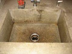 concrete kitchen sink color