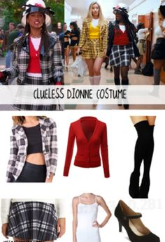 Dionne Clueless Outfit Pictures halloween costume ideas how to dress like dionne from Dionne Clueless Outfit. Here is Dionne Clueless Outfit Pictures for you. Dionne Clueless Outfit every single outfit dionne wore in clueless. Dionne Clueless Outfits, Cher Clueless Costume, Clueless Halloween Costume, 90s Costume, Clueless Fashion, Halloween Costumes For Teens, Cute Costumes, Costume Ideas, Group Halloween