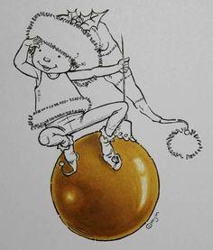 Copic Marker Europe: Christmas Baubles/Weihnachtsbaumkugeln