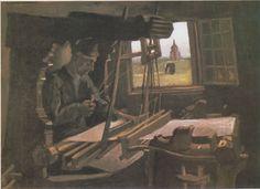 Van Gogh - Weber vor offenem Fenster mit Blick auf den Turm von Nuenen, 1884
