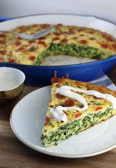 A great low-carb way to spice up your morning routine. Grab a slice of this super nutritious White Pizza Frittata before heading to work! Shared via http://www.ruled.me/: