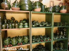 Mexican pottery in Oaxaca, Mexico
