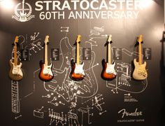 Fender Stratocaster 60th Anniversary Models Home Music Rooms, Music Studio Room, Guitar Room, Guitar Wall, Stratocaster Guitar, Fender Guitars, Rehearsal Room, Bass Amps, Music Magazines