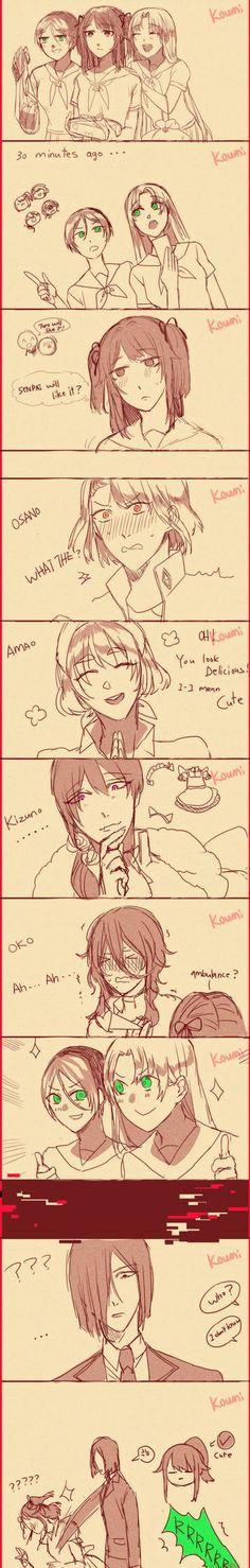 Cute you by Koumi-senpai on DeviantArt Yandere Manga, Yandere Boy, Animes Yandere, Yandere Simulator Fan Art, Yandere Simulator Characters, Fluttershy, Old Art, Girls Be Like, Story Time