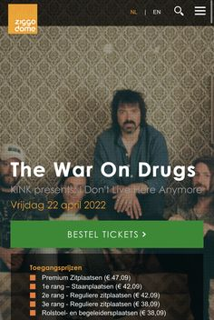 E 38, War On Drugs, Concert, Movie Posters, Movies, Films, Film Poster, Concerts, Cinema