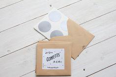 16 Gros Confettis de couleur argentà coller partout !  leshappyvintage.fr
