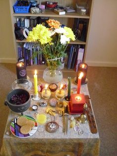 Oooh, pretty. ✯ Litha Altar 2012 .. By Althara Tumbler✯