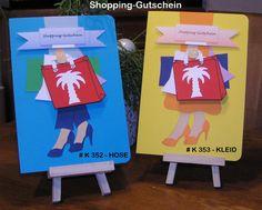 Glückwunschkarten - Geldkarte Gutscheinkarte Shopping-Gutschein  (A5) - ein Designerstück von Bastelkoenigin-de bei DaWanda