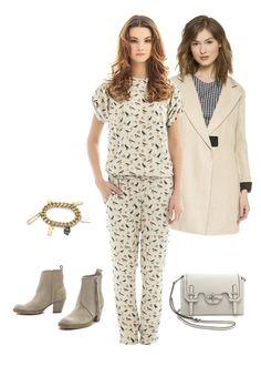 Overall #Libellulas, coat #Carven, boots #AcneStudios, bag #RebeccaMinkoff, bracelet #McQ Alexander McQueen