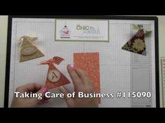 Triangle Box - Stampin' Up! Demonstrator Angie Kennedy Juda  My Blog: http://www.mychicnscratch.com or My Stampin' Up! website: http://www.angiejuda.stampinup.net