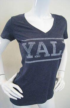 YALE T-Shirt Tee Shirt Juniors University Navy Blue Heather NWT S M XL XXL