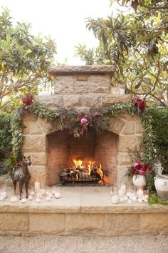 Beautiful winter garland decor: http://www.stylemepretty.com/california-weddings/montecito/2014/12/23/elegant-san-ysidro-ranch-holiday-wedding/ | Photography: Melissa Musgrove - http://www.melissamusgrove.com/