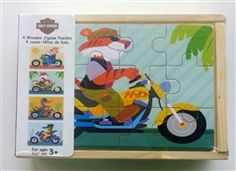Harley-Davidson kids motorcycle jigsaw puzzle