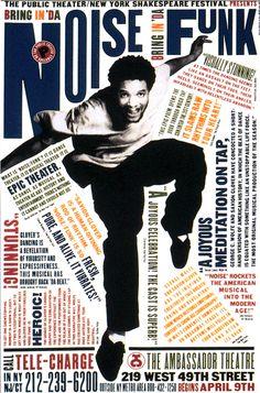Bring in 'da Noise, Bring in 'da Funk   poster by Paula Scher