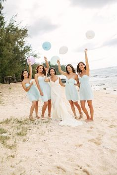 Bridesmaids Inspiration: How to make a destination wedding easy and fun for your bridal party! #beach #dresses #teal #bride #photo #inspiration #destination #wedding
