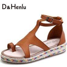 {D & H} Plus Size35-43 2016 NUEVA MIRADA Sandalias de Gladiador botas de Verano Sandalias Planas Zapatos de Las Mujeres(China (Mainland))