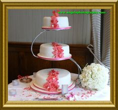 Three Tier Wedding Cake with Flowing Hearts by Cakes of Distinction, Cork, Ireland Square Wedding Cakes, Budget Wedding, Yummy Cakes, Vanilla Cake, Cake Decorating, Bakery, Desserts, Cork Ireland, Food