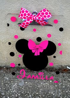 Minnie Mouse Acrylic Clipboard - PERSONALIZED Gift - Teacher Gift - Disney teacher appreci, person gift, personalize gifts, teacher disney, disney teacher gifts