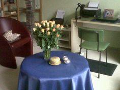 Bloemen gekregen van Barteline Swildens. Zij vond mijn compositie fruitig, licht, tonaal en plezierig.