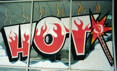Window painting signs for commercial business