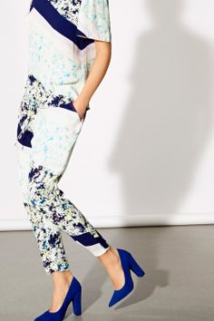 Paige Patched Printed Trousers