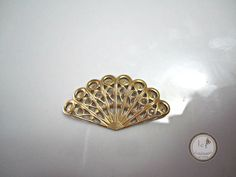SAVE 10% use coupon code PIN10 Vintage look antique oxidized #brass #filigree fan, great for many different jewelry designs.  Quantity: 1  Size: 31mm x 15mm    ITEM#: 57F-V7-2015   Please stop by my other ...