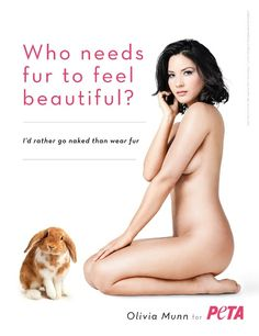Olivia Munn Bares All to Expose Fur Farms.  Friends of animals Please Sign the Petition and pass it on by sharing with others,  Thank you.