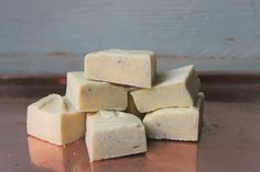 White choc & Madagascan Vanilla bean fudge. So smooth and creamy! Handmade in Wales using quality Welsh ingredients. £3.25.