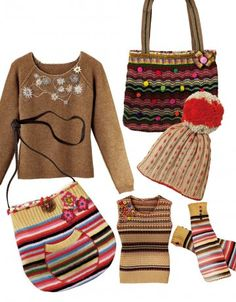 Des v�tements en r�cup� de tricot Textiles, Recycled Art, Refashion, Straw Bag, Purses And Bags, Knit Crochet, Dressing, Embroidery, Knitting
