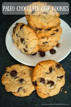 These absolutely del These absolutely delicious Paleo Chocolate Chip Cookies are made with dark chocolate chips for an even healthier paleo diet friendly dessert treat! Regardless of whether you are following the paleo diet vegan diet looking for a grain-free cookie option or just a fan of almond flour cookies you will love these tasty cookies! DelectableCooking... | #paleo #vegan #glutenfree #darkchocolate #chocolatechip #cookies http://ift.tt/2ijNwFF