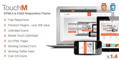 «TouchM» is a premium responsive HTML5 / CSS3 which uses the best practices of latest technologies and is compatible with all mobile devices. We optimized all the elements in this theme to work flawless on touch devices.